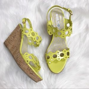 BODEN size 39 cork wedge yellow heels! 8